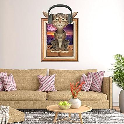 GOUZI El Muro Creativo niño Cama Pared Tiendas de Mascotas Lindo Perro,3D amorosos Gatos