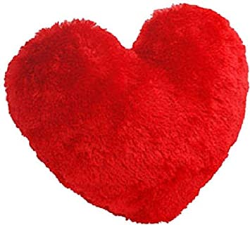 Saugat Traders Best Gift for Girlfriend Soft Red Heart Pillow/Cushion