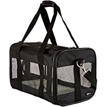 AmazonBasics Black Soft-Sided Pet Carrier - Medium