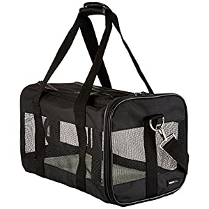 AmazonBasics Soft-Sided Mesh Pet Travel Carrier 15