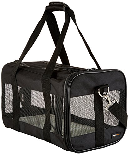 AmazonBasics Black Soft-Sided Pet Carrier - Medium