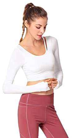 Icegrey Camisa Deportiva Mujer Manga Larga Top Yoga Fitness ...