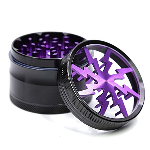 Aluminum Lightning Pattern Grinder Purple product image
