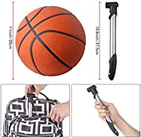 """12/"""" Hand Air Pump For Bicycle Basketball VolleyballFootball SoccerBall Needle LB"""