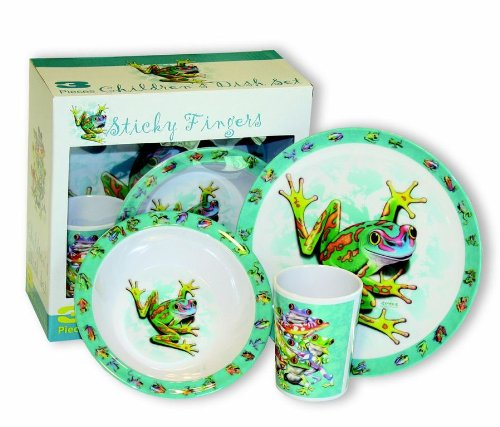 Motorhead Products Sticky Fingers' Frogs 3-Piece Children's Dish ()