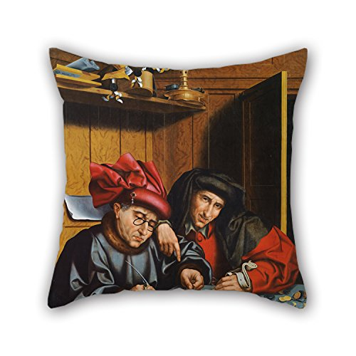 Throw Pillow Case 20 X 20 Inch   50 By 50 Cm Twice Sides  Nice Choice For Outdoor Father Divan Birthday Husband Wedding Oil Painting Marinus Van Reymerswaele  Follower Of    The Money Changers