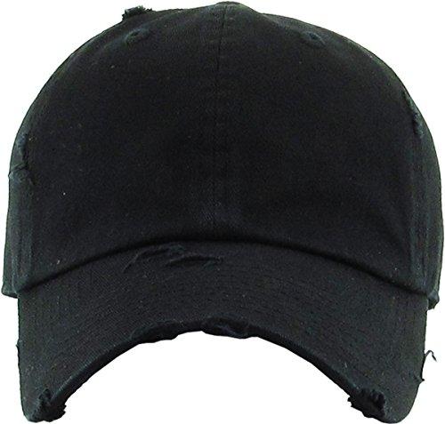 846dbe465 KBETHOS Vintage Washed Distressed Cotton Dad Hat Baseball Cap Adjustable  Polo Trucker Unisex Style Headwear (Vintage) Black Adjustable