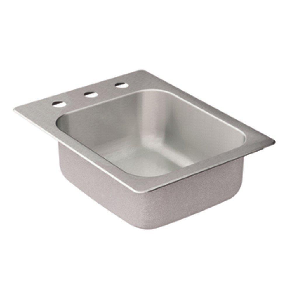 Moen G204573 2000 Series 20 Gauge Single Bowl Drop In Sink, Stainless Steel