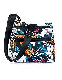 TOTZY Nylon Crossbody Purse for Women Lightweight Travel Shoulder Bags Muti-Pockets Messenger Bag