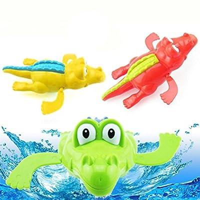 Baby Bath Toys, Sacow Kids Crocodile Swimming Tub Bathtub Playset Clockwork Play Toys Kid Educational Water Toys: Kitchen & Dining