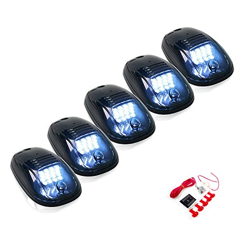 - 5 Pcs Cab Marker Lights w/ 16 White LED For 2003-2017 Dodge Ram