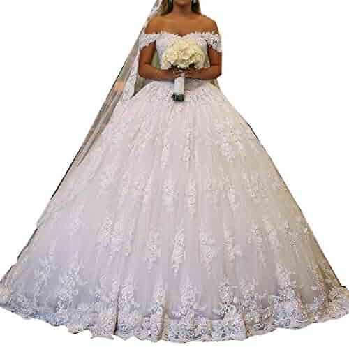 98923eca7b9b GFDress Women's Elegant Wedding Gowns Bridal Dresses Beautiful Gorgeous  Church Wedding Dresses Outdoor Dress