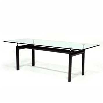 Designer Modern Le Corbusier Style LC6 Dining Table With Black Base