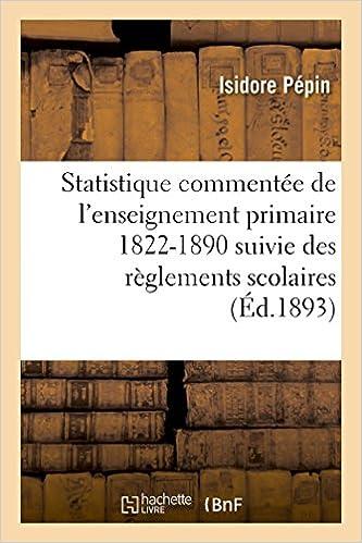 Amazon Fr Statistique Commentee De L Enseignement Primaire