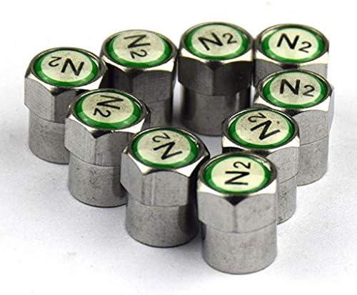 4個 N2 タイヤバルブキャップ窒素 高品質 耐久性