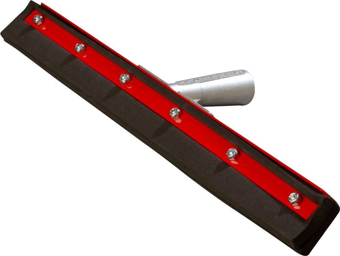 Carlisle 4008100 Flo-Pac Double Foam Rubber Neoprene Floor Squeegee with Steel Frame, 18'' Width (Case of 6)