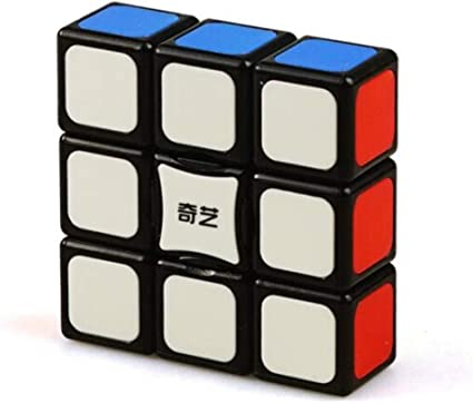 CuberSpeed Qiyi 1x3x3 Super Floppy Black Magic Cube 3x3x1 Speed cube