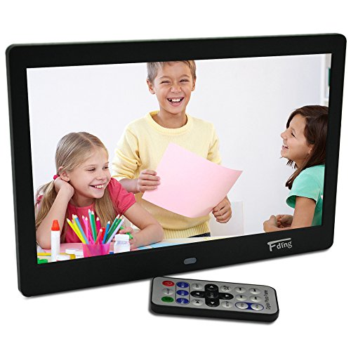 10.1 Inch Hi-Res TFT LED Digital Photo Frame & HD Video(1080P/720p) with 8GB Memory Card-Black by Fding