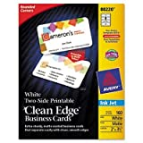 Avery - 2 Pack - Rounded Two-Sided Clean Edge Business Cards Inkjet 2 X 3-1/2 White 160/Pack ''Product Category: Paper & Printable Media/Cards & Card Stock''