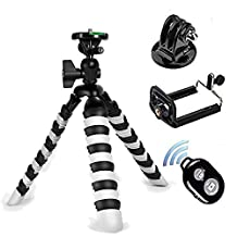 Tripod for Phone - Peyou 4 in 1 [2016 New Version Larger Carrying Capacity] Flexible Octopus Style Portable and Adjustable Tripod Stand With Replacement GoPro Tripod Mount For Phone&Cameras