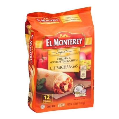 El Monterey Signature Chicken and Monterey Jack Cheese Chimichanga 375 Pound  4 per case