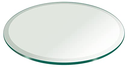Fab Glass And Mirror 60u0026quot; Inch Round Glass Table Top 3/4u0026quot; Thick