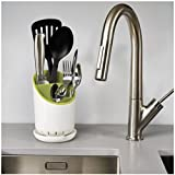 Star Element Utensil Holder. Hold Flatware, Cutlery, Cooking Utensils and Gadgets With a Large Commercial Restaurant Quality Silverware Caddy. With Knife slot and Self Draining