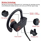 Bluetooth Headphones,Small Target Best Wireless Sports Earphones with Mic IPX7 Waterproof Stable Fit In Ear Earbuds Noise Isolating Stereo Headset 9-Hour Woriking Time for Running Workout Gym - Black
