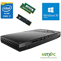 Intel BOXNUC6i7KYK 6th Gen Core i7-6770HQ SkullCanyon NUC w/ 32GB DDR4, 256GB NVMe SSD, Windows 10 Home - Configured and Assembled by MITXPC