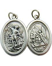 CB Catholic St Michael Medals Bulk Lot Set of 10 Metal Saint Pendants from Italy