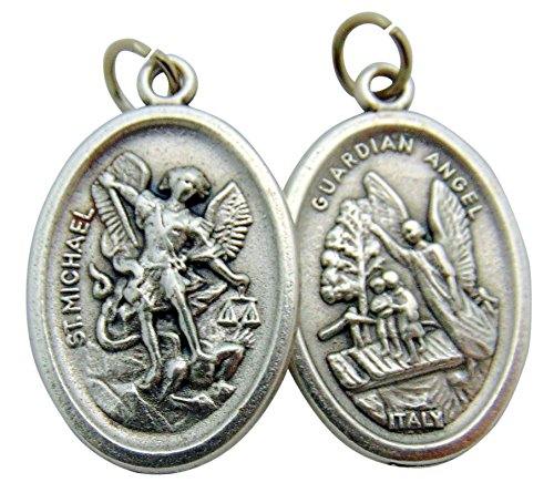 St Michael Medals Bulk Lot Set of 10 Metal Saint Pendants from Italy