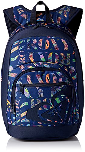Roxy Laptop Backpacks (Roxy Women's Grand Love Poly Backpack, Corawaii/Blue Print)