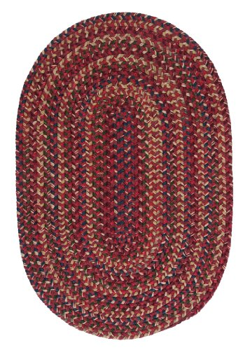 Midnight Round Rug, 6-Feet, Burnt Brick Midnight Red Area Rugs
