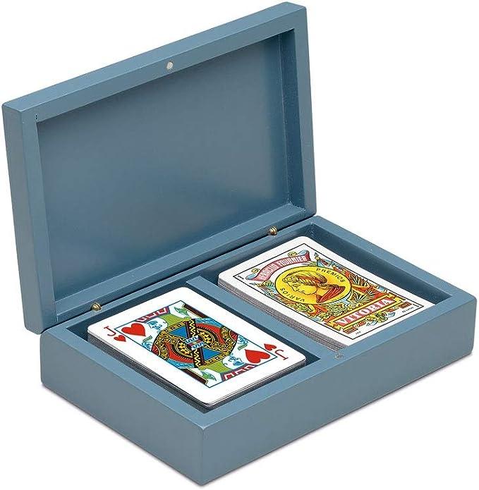 Cayro - Estuche de baraja de Cartas Española y Poker - Juego Tradicional - Juego de Mesa - Desarrollo de Habilidades cognitivas y lógico matemáticas - Juego de Mesa (2641): Amazon.es: Juguetes y juegos