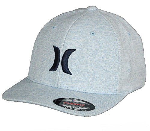 Hurley Flexfit Curve Cap ~ One & Textures 2.0 l.Blue (Hat Embroidered Hurley)
