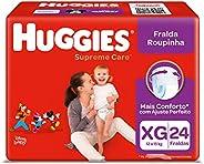 Fralda Roupinha Supreme Care 24 Unidades, Huggies, Vermelha, XG