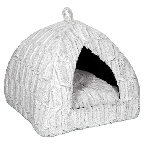 Petface Luxury Bamboo Plush Cat Igloo Bed