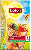 Lipton Tea and Honey Decaf Iced Green Tea To Go Packets, Strawberry Acai 10 ct (Pack of 6)