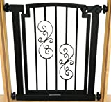 Noblesse Dog Gate – 32″ tall x 28″-34″ wide – Black Review