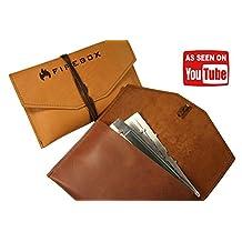 "5"" Firebox Case - (Saddle - Darker Color) Heirloom Quality Genuine Top Grain Leather Case"