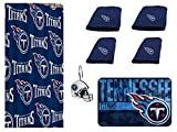 NFL Tennessee Titans 18 Piece Bath Ensemble: Set Includes 1 Shower Curtain, 12 Shower Hooks, 2 Bath Towels, 2 Hand Towels, and 1 Bath mat