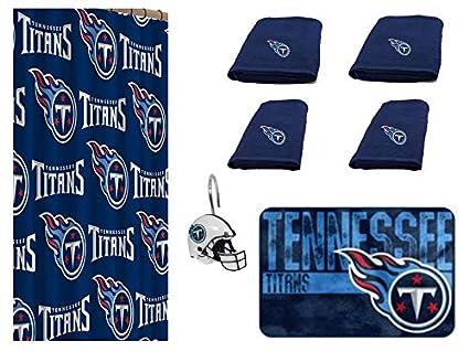 5ba3efd3 Amazon.com : NFL Tennessee Titans 18 Piece Bath Ensemble: Set ...
