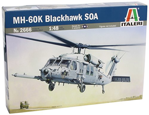 MH-60K Blackhawk SOA Combat Assault Helicopter 1/48 Italeri