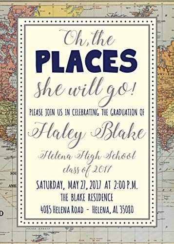 Oh the Places (S) he Will Go Graduation Announcements