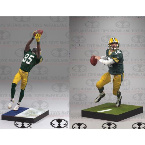 Greg Jennings Green (McFarlane Green Bay Packers Aaron Rodgers & Greg Jennings Action Figures)