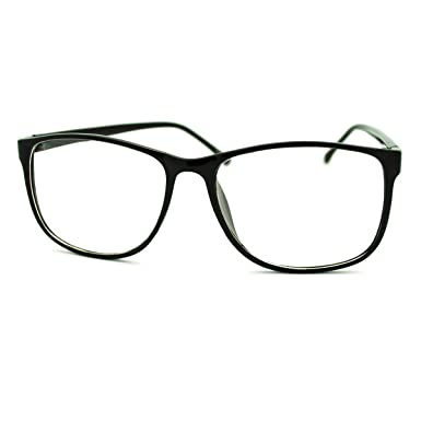 black square clear lens eyeglasses oversized thin fashion glasses frame