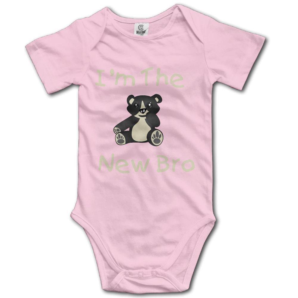 Midbeauty Bear The New Bro Newborn Baby Sleeveless Jumpsuit Romper