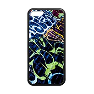 Iphone 5C Case,Graffiti Personalized Slim Protective Soft Rubber Black Edge Case Cover For Apple Iphone 5C