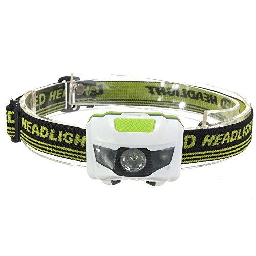 Vanker Lampe torche frontale avec piles rechargeables et 4modes de lumière pour camping, pêche, vélo, course, chasse 1