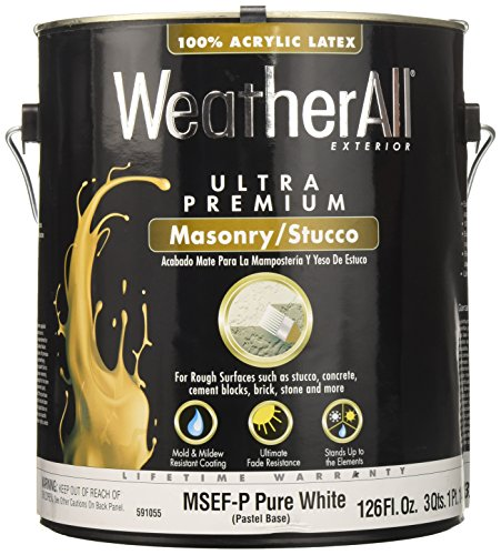 True Value MSEFP-GL 1-Gallon Pastel Base Stucco Paint 1 Gallon Pastel Base